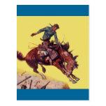 Fall auf Cowboy Postkarte