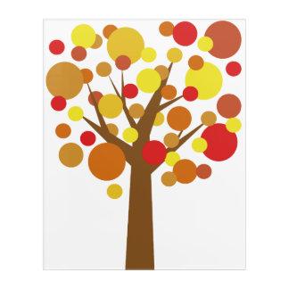 Fall-Baum Acryl Wandkunst