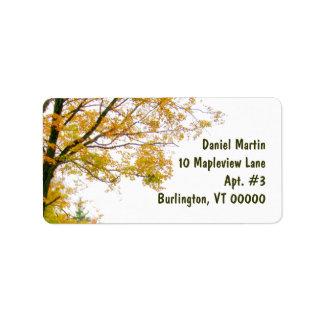 Fall-Baum-Adressen-Etikett, groß Adressaufkleber