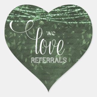 Fall beleuchten wir Liebe-Empfehlungen grünen Herz-Aufkleber
