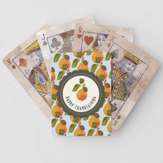 Fall-Birnen-Frucht-Erntedank Bicycle Spielkarten