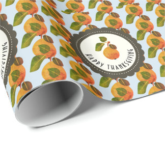 Fall-Birnen-Frucht-Erntedank Geschenkpapier