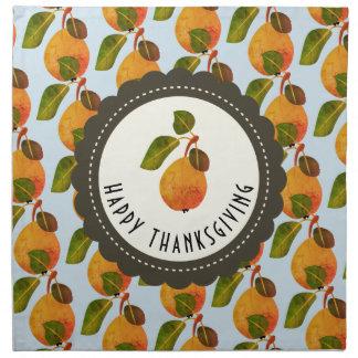 Fall-Birnen-Frucht-Erntedank Stoffserviette