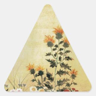 Fall-Blumen Dreieckiger Aufkleber