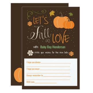 Fall der Herbst-Themed Baby-Wunsch-Karten-| in 8,9 X 12,7 Cm Einladungskarte