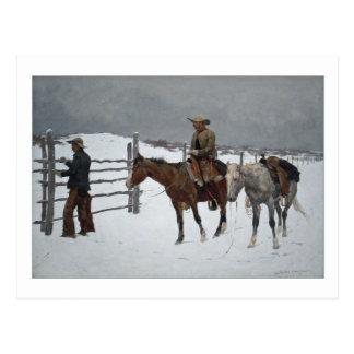 Fall des Cowboys durch Frederic Remington Postkarte