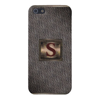Fall des Monogramm-Leder-Blick-iPhone4 Etui Fürs iPhone 5