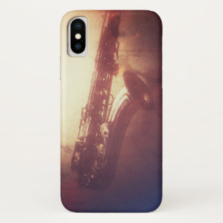 FALL DES SAXOPHON-FLIPPIGER JAZZ-IPHONE iPhone X HÜLLE