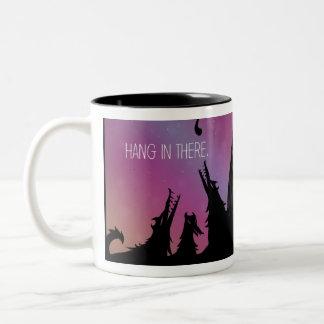 Fall dort in der Kaffee-Tasse Zweifarbige Tasse