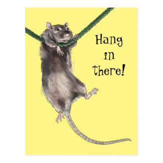 Fall dort in der Ratte Postkarte