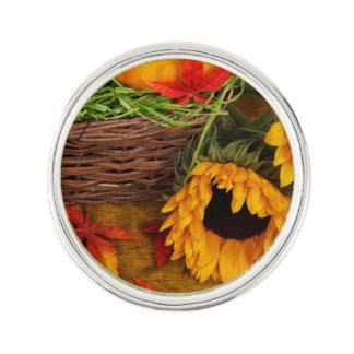 Fall-Ernte-Sonnenblumen Anstecknadel