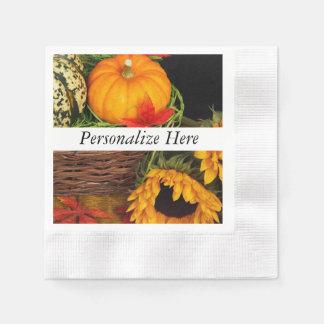 Fall-Ernte-Sonnenblumen Papierserviette