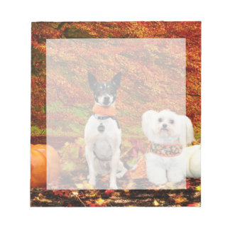 Fall-Erntedank - Monty Fox-Terrier u. Milly Malz Notizblock