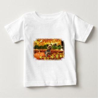 Fall-Erntedank - Tucker - Yorkie Baby T-shirt