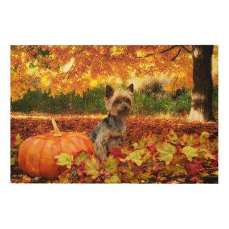 Fall-Erntedank - Tucker - Yorkie Holzwanddeko