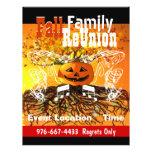 Fall-Familien-Wiedersehen-Halloween-Fall-Ereignis- Flyers