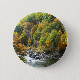 Fall-Farbe am Ohiopyle Staats-Park Runder Button 5,7 Cm