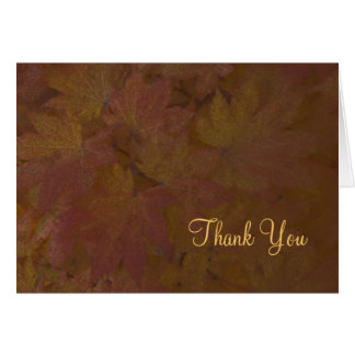Fall färbte Ahorn, den Blätter Ihnen dankt Karte