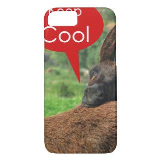 Fall: Glücklicher Esel - behalten Sie cool iPhone 8/7 Hülle