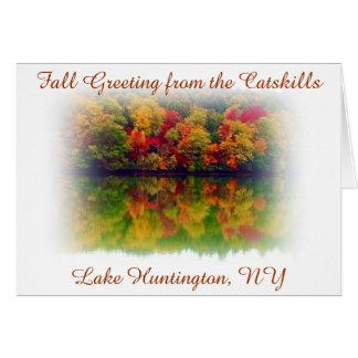 Fall-Grüße vom Catskills-See Huntington Karte