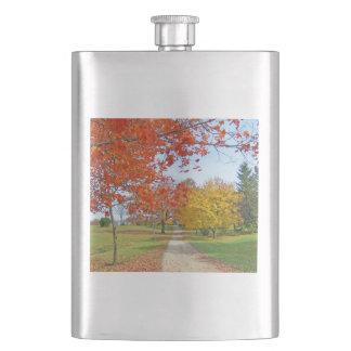 Fall-Herbst-Blätter Flachmann