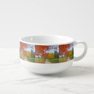 Fall-Herbst-Blätter Große Suppentasse