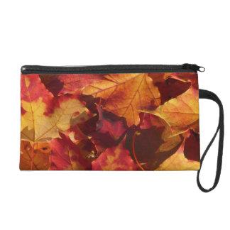 Fall-Herbst-Blätter Wristlet Handtasche