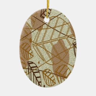 Fall-Herbst verlässt Blume Blumenmuster browns TAN Keramik Ornament