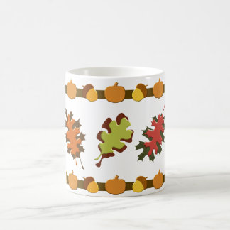 Fall-Herbst verlässt Eichel-Entwurf Kaffeetasse