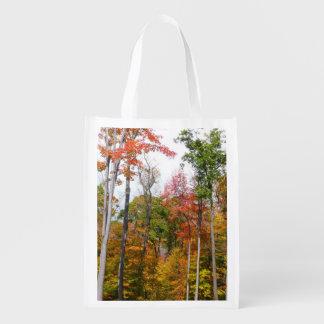 Fall in die Waldbunte Herbst-Fotografie Wiederverwendbare Einkaufstasche