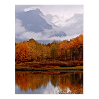 FALL IN GROSSARTIGEN TETON NATIONALPARK POSTKARTE