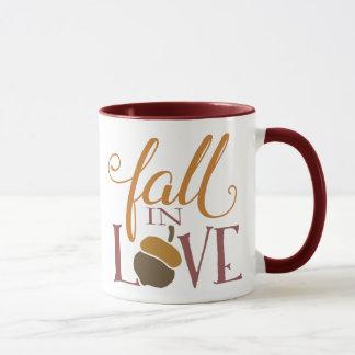 Fall in Herbst-Eichel der Liebe-| Tasse