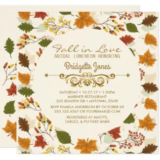 Fall in Liebe-Brautmittagessen-Herbst-Polterabend Karte
