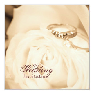 Fall in Liebe-Hochzeits-Ring-Verlobungs-Party Quadratische 13,3 Cm Einladungskarte