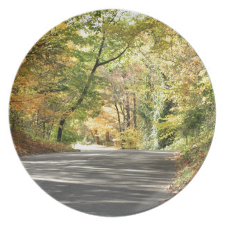 Fall in Neu-England hintere Straße Melaminteller
