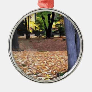 Fall in Ohio Silbernes Ornament