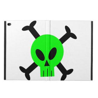Fall iPad Airs 2 des grünen Schädels und der