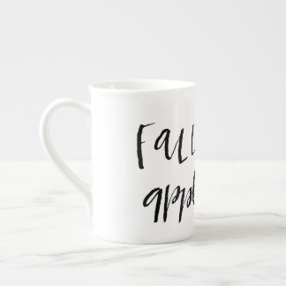 Fall ist für Apple-Apfelwein-Beschriftungs-Tasse Porzellantasse