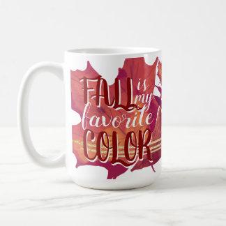 """""""Fall ist meine Lieblingsfarb"""" Kaffee-Tasse Kaffeetasse"""
