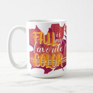 """Fall ist meine Lieblingsfarb"" Tassen-Gelb Kaffeetasse"