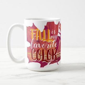 """""""Fall ist meine Lieblingsfarb"""" Tassen-Gelb und Rot Kaffeetasse"""