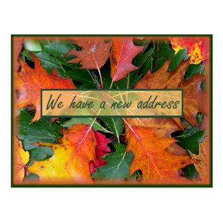 Fall-Jahreszeit-Eichen-Blätter-Bewegen Postkarte