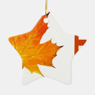 Fall Keramik Stern-Ornament