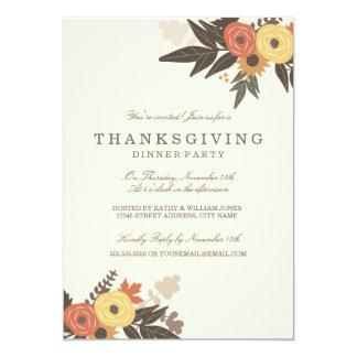 Fall-Laub-Erntedank-Abendessen-Einladung 12,7 X 17,8 Cm Einladungskarte