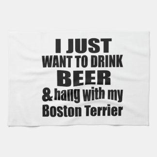 Fall mit meinem Boston Terrier Küchentuch