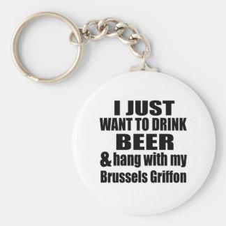 Fall mit meinem Brüssel Griffon Schlüsselanhänger
