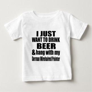 Fall mit meinem deutschen Drahthaar-Zeiger Baby T-shirt