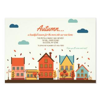 Fall-Nachbarschafts-bewegliche Mitteilung 12,7 X 17,8 Cm Einladungskarte