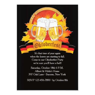 Fall Oktoberfest Einladung
