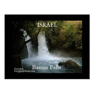 Fall-Postkarte ISRAELS Banias Postkarte